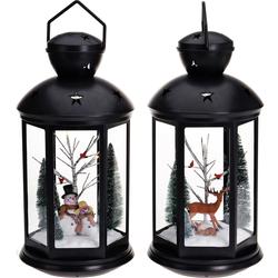 XXL Laterne Weihnachtsszene mit Licht - Dekolaterne Weihnachtsdeko Dekoration
