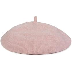 styleBREAKER Baskenmütze Baskenmütze in Cord Optik Baskenmütze in Cord Optik rosa