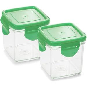Genius Nicer Dicer Quick Auffangbehälter inkl. Frischhaltedeckel in grün 200ml (4 Teile) Auffangbox Auffangdose Dose - zum Hineinschneiden, Aufbewahren und Transportieren