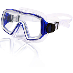 AQUAZON Taucherbrille AQUAZON NIZZA hochwertige Schnorchelbrille, Taucherbrille, Schwimmbrille, Tauchmaske für Erwachsene, Senior size, Tempered Glas, Antibeschlag, Silikon, sehr robust blau