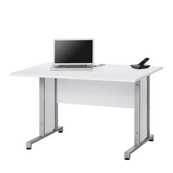 Computer Schreibtisch in Weiß 120 cm