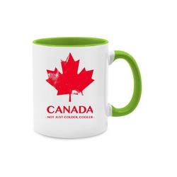 Shirtracer Tasse Canada Vintage Not just colder cooler - Länder - Tasse zweifarbig - Tassen, tasse kanada
