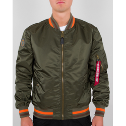 Alpha Industries MA-1 LW Tipped Jas, groen, S