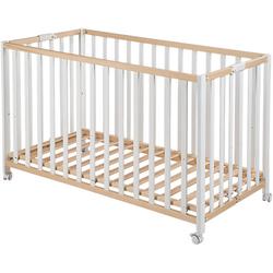 Kinderbett FOLD UP, klappbar, 60 x 120 cm, bicolor weiß