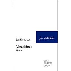 Verzeichnis. Jan Kuhlbrodt  - Buch