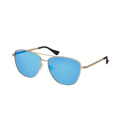 Hawkers LAX A1804 GOLD BLUE, Quadratische Sonnenbrille, Unisex