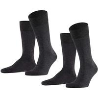 Falke Socken Happy 2-Pack (2-Paar) Baumwollstrumpf für jedes Outfit grau 43-46