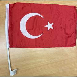 cofi1453 Flagge Türkiye Autofahne TÜRKEI Autofensterfahne Fahnen Autoflagge Fahnen Auto Flaggen Set (4-St)