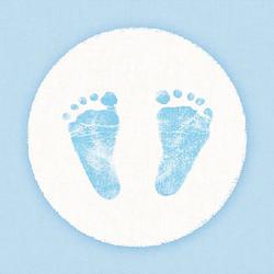 Ambiente Papierserviette Babyfüße Blau, (5 St), 33 cm x 33 cm
