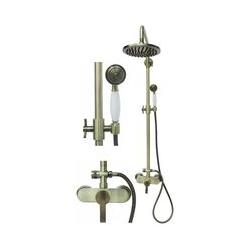 Retro Duschset Duschsystem Brauseset Dusche Regendusche Bronze