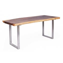 Tischhelden Esstisch Esstisch massiv Suarholz Metallbeine B 200 cm