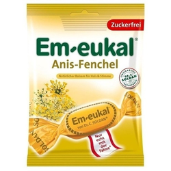 EM EUKAL Bonbons Anis Fenchel zuckerfrei 75 g