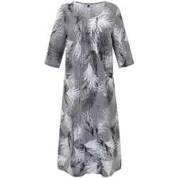 Kleid aus 100% Leinen Anna Aura schwarz/weiß