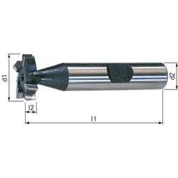 Schlitzfräser HSSE5 DIN 850 kreuzgez. 6x7.5 (19.5