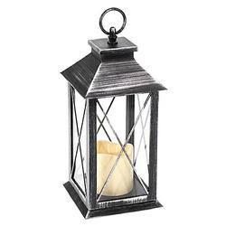 LED Outdoor-Laterne mit Kerze, 34 cm
