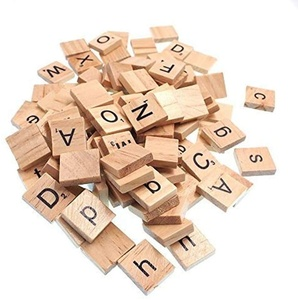 Raylinedo 200x Mit Scrabble - Fliesen Buchstaben Des Alphabets Scrabbles In Groß - Und Kleinschreibung Viele Englische Wörter Kunsthandwerk Gemischt