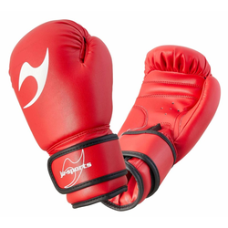 Boxhandschuhe Kinder rot (Größe: 8 Oz, Farbe: Rot)