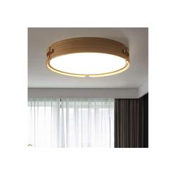 ZMH Deckenleuchte LED Deckenlampe Holz Rund aus Walnuss Holz 26W Ø42CM für Wohnzimmer, Schlafzimmer, Esszimmer