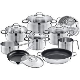 Silit Achat Topf-Set 8-tlg. 3 x Fleischtopf + Bratentopf + Milchtopf + Stielkasserolle + Servierpfanne + Bratpfanne