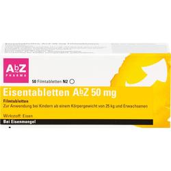 EISENTABLETTEN AbZ 50 mg Filmtabletten 50 St.