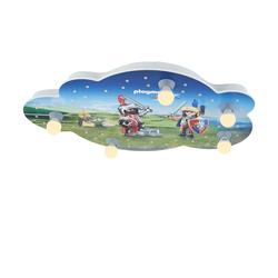 Playmobil Deckenleuchte, 5+40 flammig, Playmobil ´Knights´ ¦ blau ¦ Maße (cm): B: 50 H: 8