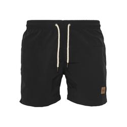 Urban Classics Herren Badeshorts 'Block Swim Shorts' schwarz