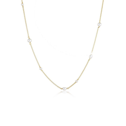 Elli Perlenkette Elegant Basic Süsswasserzuchtperlen 925 Silber goldfarben