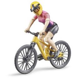 bworld Mountainbike mit Radfahrerin