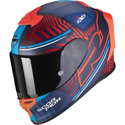 Scorpion EXO-R1 Air Victory Helm Rood Blauw XL