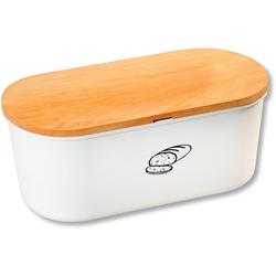 KESPER for kitchen & home Aufbewahrungsbox, Buchenholz, Melamin, (2-tlg), mit Deckel aus Melamin weiß