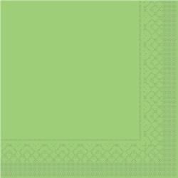 Mank Tissue Basics Servietten, 33 x 33  cm, 1/4 Falz, 3-lagig, 1 Karton = 6 x 100 Stück = 600 Servietten, kiwi