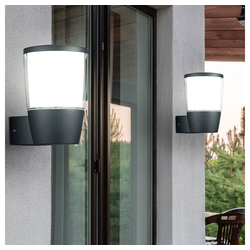 etc-shop Wandleuchte, 2x LED Außen Wand Strahler Lampe ALU UP Terrassen Beleuchtung Park Leuchte