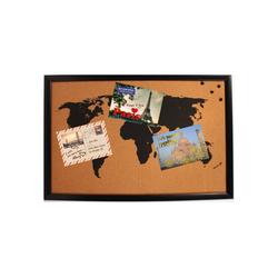 HTI-Living Pinnwand Korktafel Pinnwand Weltkarte, Wandorganizer