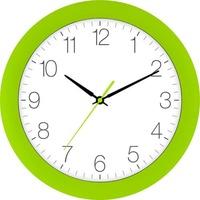 EUROTIME 88800-09-2 Quarz Wanduhr 30cm x 4.5cm Giftgrün Schleichendes Uhrwerk (lautlos)