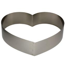 LARES Herzkuchenform 6004, Herzbackform sehr groß, aus rostfreiem Edelstahl, Made in Germany Ø 28 cm x 7 cm