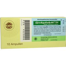 GINKGOBAKEHL D 4 Ampullen