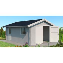 Nordic Holz Garage Yarik, BxT: 474x583 cm, 202 cm Einfahrthöhe