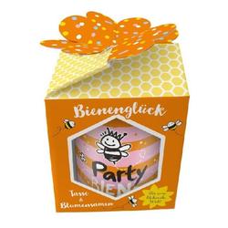 Tasse & Blumensamen Bienenglück Party Biene