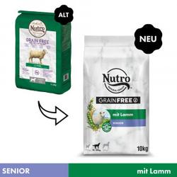 Nutro Grain Free Senior mit  Lamm Hundefutter 2 x 10 kg