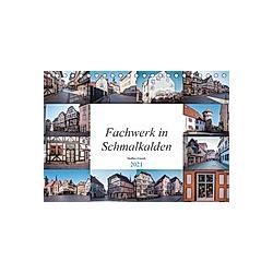 Fachwerk in Schmalkalden (Tischkalender 2021 DIN A5 quer)