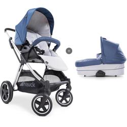Hauck Kombi-Kinderwagen iPro Mars Duoset, denim/silver, mit Babywanne; Kinderwagen