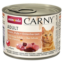 ANIMONDA Carny Adult Huhn, Pute + Entenherzen 6 x 200 g