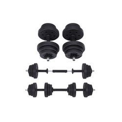 SONGMICS Hantel SYL20HBK SYL30HBK, Kurzhantel set, 20 kg, Fitnessstudio, 1 Paar, schwarz 20 kg
