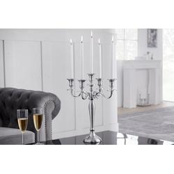 riess-ambiente Kerzenständer KERZENSTÄNDER 41cm silber (1 Stück), Metall · Kerzenhalter · Deko · Barock-Design