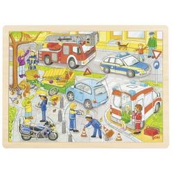 Einlegepuzzle Polizeieinsatz (Holzpuzzle)