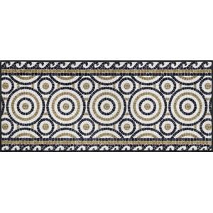 Wash+Dry Design Fußmatte, Polyamid, braun, 60x140 cm