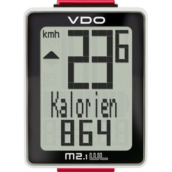 Vdo M 2.1 WL Wireless-Fahrradcomputer Black