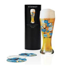 Ritzenhoff Bierglas Weizenbierglas Bierglas Shinobu Ito 500 ml, Kristallglas weiß