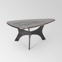 Polymnia Modern Industrial Guitar Pick Coffee Table Gray/Pewter - Christopher Knight Home