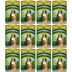 Christopherus Hundenassfutter Leichte Kost, 12 Dosen á 400 g oder 12 Dosen á 800 g braun 12 Stk.